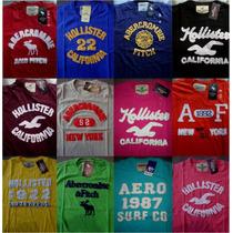 Camisa Masculina De Malha Hollister/abercrombie