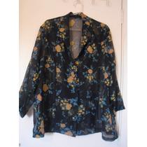 Camisa /blusa/bata Feminina, Estampa Floral. Tamanho Gg
