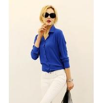 Blusa Camisa T-shirts Feminina Chiffon Slim Fit Importada