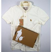 Camisa Polo Bordado Especial Na Gola S&f Original Detalhada