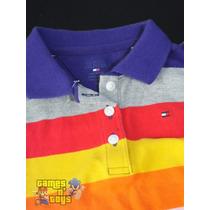 Camisa Polo Tommy Hilfiger Roupa Infantil Stripe Original