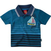 Camiseta Polo Bebê Barco A Vela - Pronta Entrega