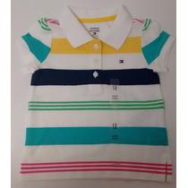 Tommy Hilfiger Camisa Polo Infantil Menina Tamanho 12 Meses