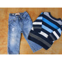 Lote Roupas Importadas Calça Jeans Blusa De Lã Bebe 1 Ano