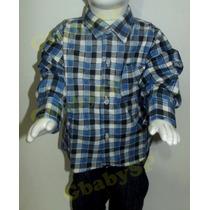 Camisa Caipira Junina Infantil Xadrez Para Bebê 12a18 Meses