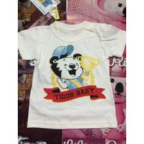 Camisa Infantil Tigor T. Tigre Original Tamanhos Mb, 1p, 2p