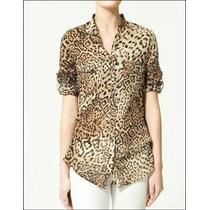 Blusa / Camisa Leopardo - Importada - Pronta Entrega