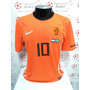 Camisa Holanda Home 10-11 Sneijder 10 Vs Brasil Importada