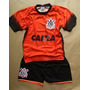 Conjunto Infantil Corinthians Shorts E Camiseta Boa Qualidad