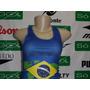 Regata Brasil Feminina Elastano Bandeira 60% Off