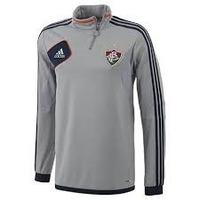 Camisa Fluminense Manga Longa Adidas Treino Cinza 2012/2013