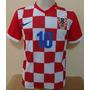 Camisa Croácia Xadrez 2015 Numero 10 Pronta Entrega ¿