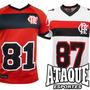 Camisa Flamengo Oficial Foot Americano 2014-15 Bran Ou Verm