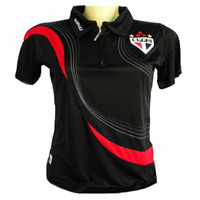 Camisa Polo Do São Paulo Feminina Oficial