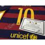 Camisa Barcelona Oficial Autografada Por Messi Cert. Intern.