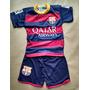 Conjunto Infantil Barcelona Listrado Shot E Camiseta Neymar