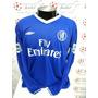 Camisa Chelsea Home 04-05 Manga Longa Drogba 15 Premier
