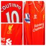 Camisa Liverpool Home/unif 1 - #10 Coutinho - Manga Longa