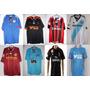 8 Camisas: Milan,lyon,chelsea,olympique,manchester,santos