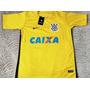 Camisa Corinthians Goleiro Amarela Cássio 12 Frete Grátis