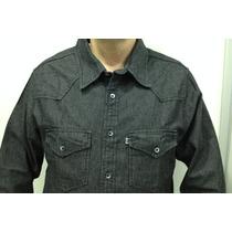 Camisa Jeans Manga Longa C/ 2 Bolsos Direto Da Fábrica