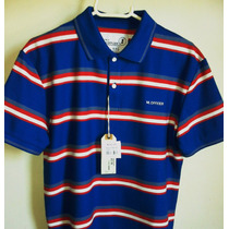 Camisa Polo Masculina Marca Famosa M.officer 03 Cores -tm P