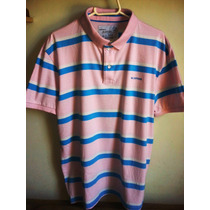 Camisa Polo Masculina Marca Famosa M.officer Em Listras M/g