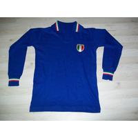 Camisa Seleção Italia 1970s Autentica Mangas Longas Rara