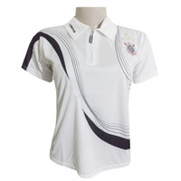 Camisa Polo Corinthians Feminina C/ziper Branca Frete Grátis
