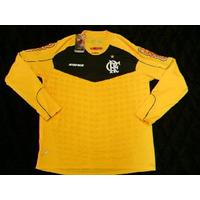 Camisa Flamengo Goleiro 2011 Manga Longa Olympikus Amarela
