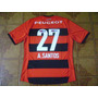 Camisa Flamengo Rubro Negra Jogo 27 A. Santos G
