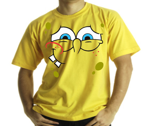 Camiseta Adulto Ou Infantil Bob Esponja Ai Ai Ai