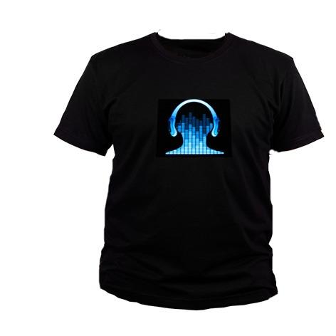 Camiseta Led Eletronica Luminosa Que Acende - Equalizada