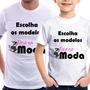 Camiseta Adulto E Infantil Modelos Foca Na Moda Pai E Filho