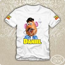 Camisa Camiseta Blusa Personalizada Toy Story Woody Batata