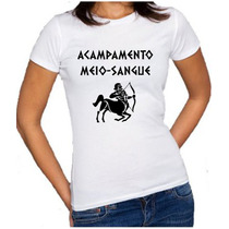 Camiseta Baby Look Acampamento Meio-sangue Percy Jackson