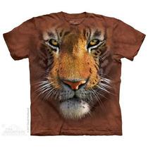 Camisa 3d Tiger Face The Mountain Original