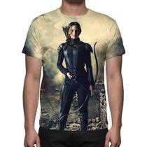 Camisa, Camiseta Jogos Vorazes A Esperança Parte 1 Mod 05