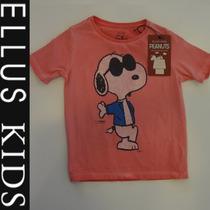 Camiseta Ellus Kids Meninos Manga Curta Snoopy - Rosa