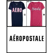 Camisetas Aeropostale Femininas Originais Varios Tam Fretegr