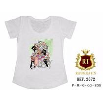 T-shirt Camiseta Gatos Personalizada Feminina