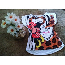 Blusa Camiseta Feminina Minnie Tamanho Unico Oncinha
