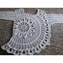 Blusa De Croche Modelo Anna Maria