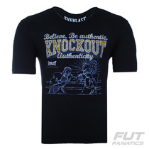 Camiseta Everlast Mma Knockout Preta - Futfanatics