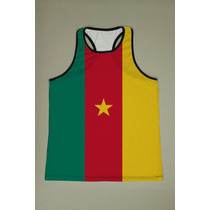 Camiseta Regata Nadador Masculina - Camarões