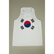Camiseta Regata Nadador Masculina - Coreia Do Sul