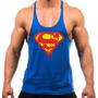 Camiseta Regata Musculação Super Cavada Superman Batman Tank
