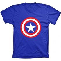 Camisetas Capitão America Super Herois Masculina Feminina