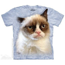 Camisa 3d Grumpy Cat The Mountain Gato Zangado
