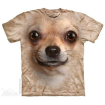Camiseta Chihuahua Face 3d The Mountain Original